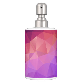 Colourful Abstract Geometric Pattern Bath Sets