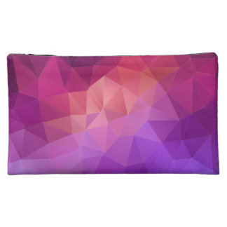 Colourful Abstract Geometric Pattern Cosmetic Bags