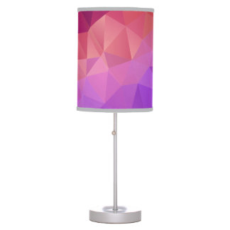 Colourful Abstract Geometric Pattern Desk Lamps