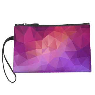 Colourful Abstract Geometric Pattern Wristlet