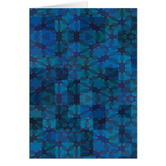 Colourful Abstract Geometrical Designs Greeting Card