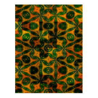 Colourful Abstract Geometrical Designs Postcard