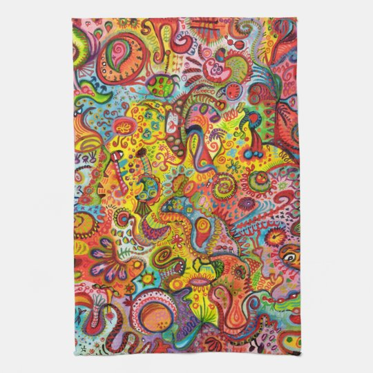 Colourful Abstract Kitchen Towel