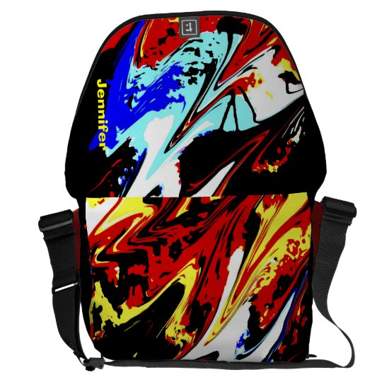 Colourful Abstract, Large Messenger Bag