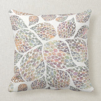 Colourful Abstract Leaf Pattern Pillow