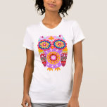 Colourful Abstract Owl Shirt