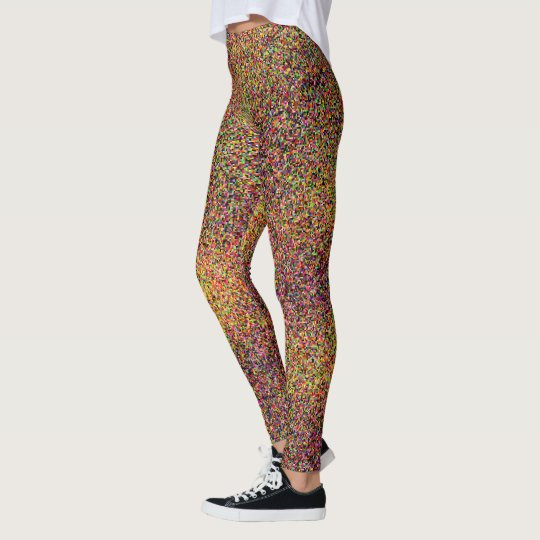 Colourful Abstract Pattern Fun Leggings