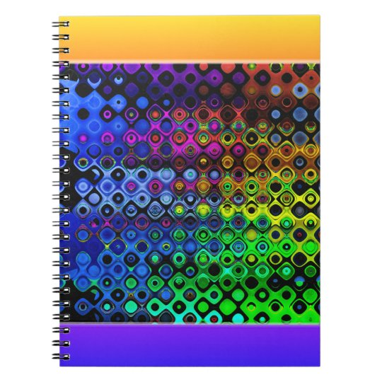 Colourful Abstract Pattern Notebook