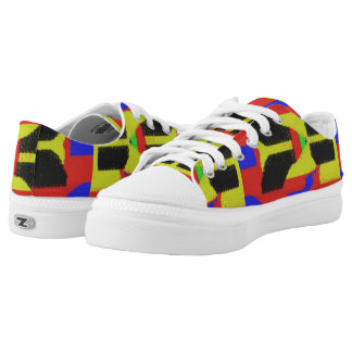 Colourful abstract trendy pattern Low-Top sneakers