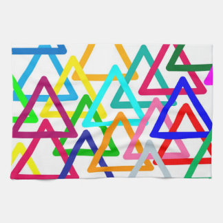 Colourful Abstract Triangle, Kitchen Towel Design
