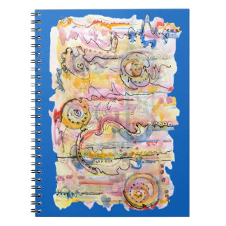 Colourful abstract watercolour spiral notebook