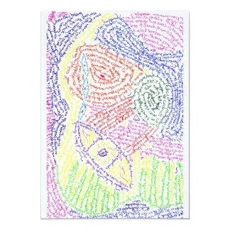 Colourful abstract word drawing image color announcements