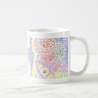 Colourful abstract word drawing image color coffee mugs