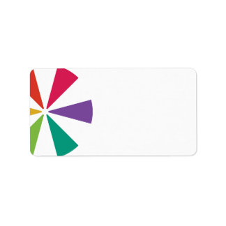 Colourful Address Labels