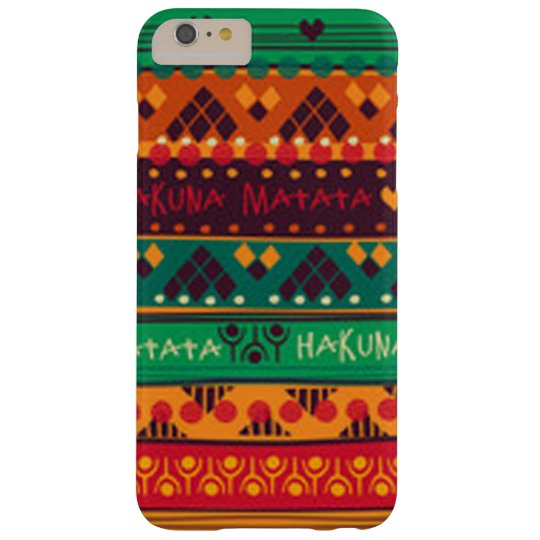 Colourful African No Worries Typography Barely There iPhone 6 Plus Case