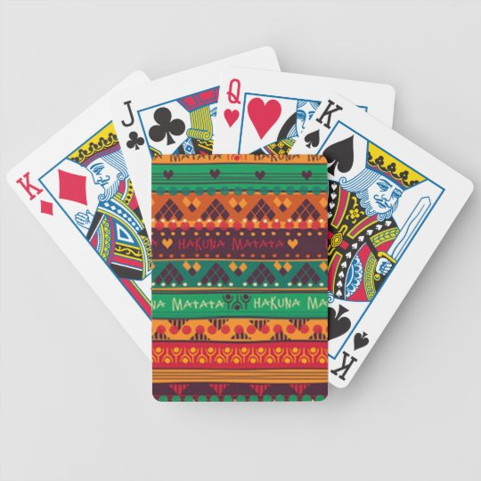 Colourful African No Worries Typography Bicycle Playing Cards