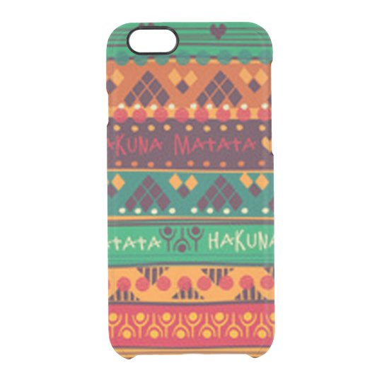 Colourful African No Worries Typography Clear iPhone 6/6S Case