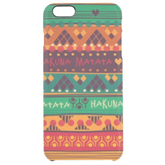 Colourful African No Worries Typography Clear iPhone 6 Plus Case