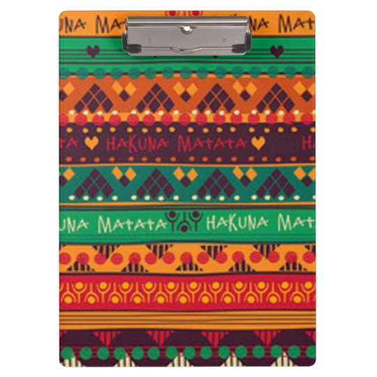Colourful African No Worries Typography Clipboard