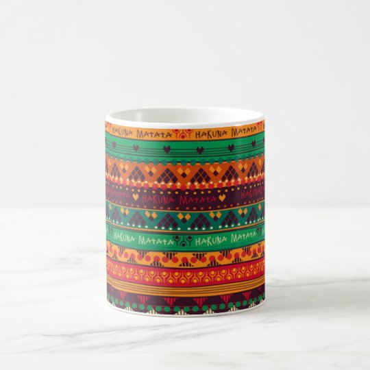 Colourful African No Worries Typography Coffee Mug