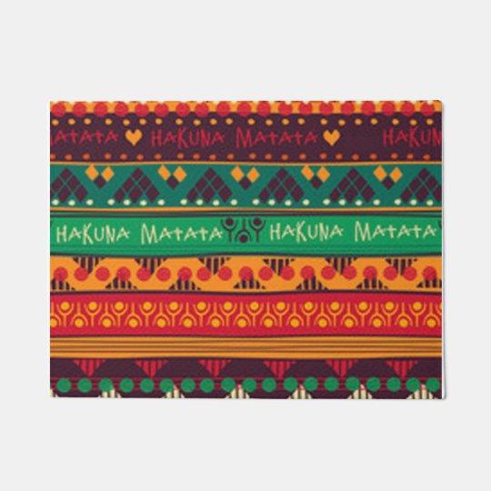 Colourful African No Worries Typography Doormat