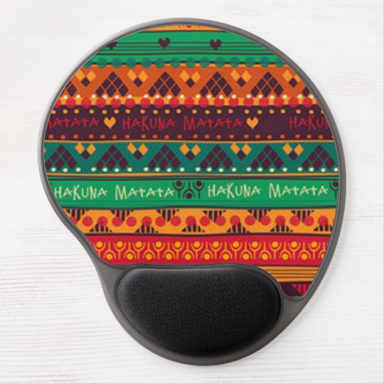 Colourful African No Worries Typography Gel Mouse Pad