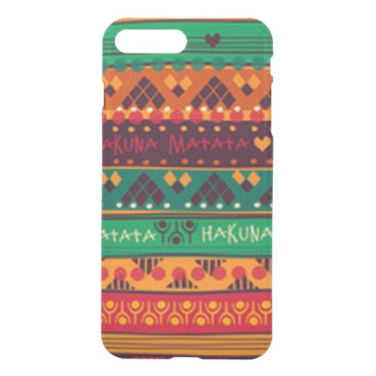 Colourful African No Worries Typography iPhone 8 Plus/7 Plus Case
