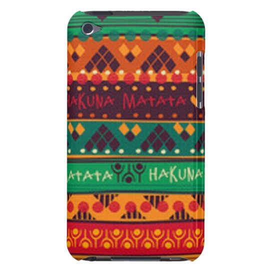 Colourful African No Worries Typography iPod Case-Mate Case