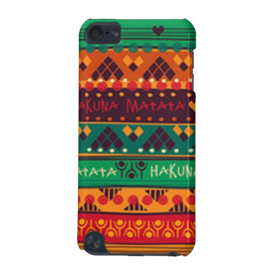 Colourful African No Worries Typography iPod Touch 5G Cover