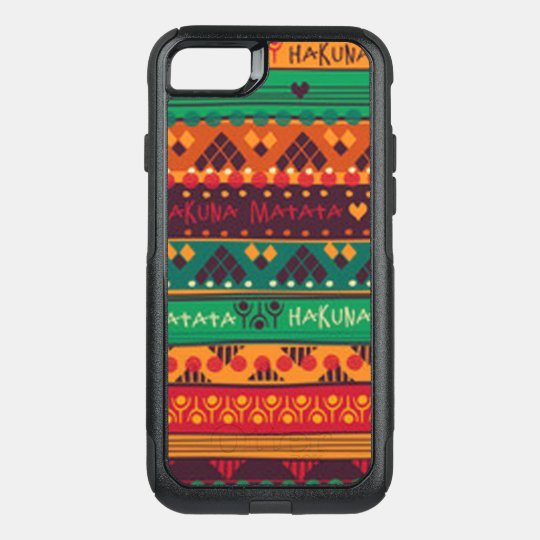 Colourful African No Worries Typography OtterBox Commuter iPhone 8/7 Case