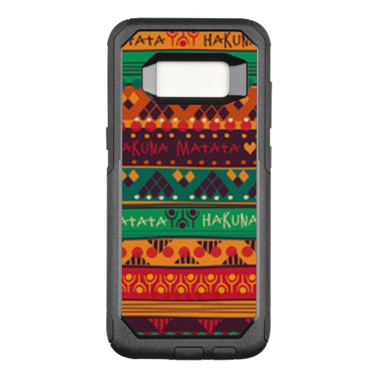 Colourful African No Worries Typography OtterBox Commuter Samsung Galaxy S8 Case