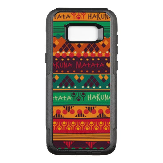 Colourful African No Worries Typography OtterBox Commuter Samsung Galaxy S8+ Case