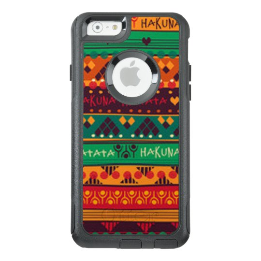 Colourful African No Worries Typography OtterBox iPhone 6/6s Case