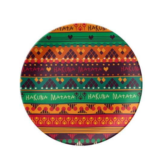 Colourful African No Worries Typography Plate