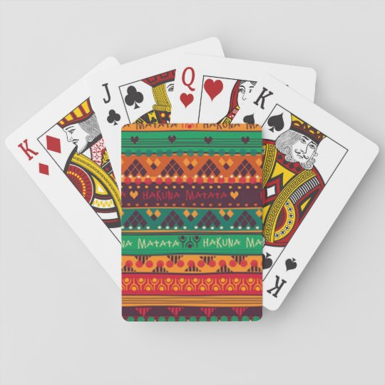 Colourful African No Worries Typography Playing Cards