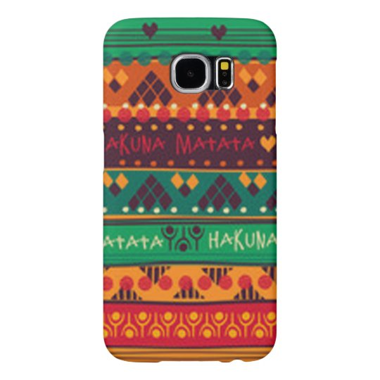 Colourful African No Worries Typography Samsung Galaxy S6 Case