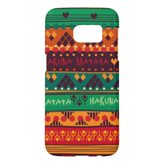 Colourful African No Worries Typography Samsung Galaxy S7 Case
