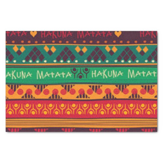 Colourful African No Worries Typography Tissue Paper
