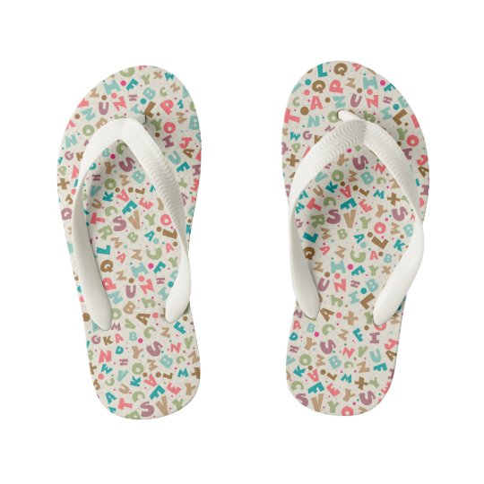Colourful Alphabet Sandals
