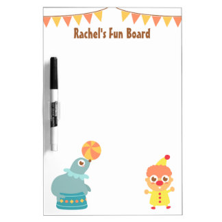 Colourful and Cute Circus Theme Dry-Erase Whiteboard