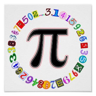 Colourful and Fun Circle of Pi Poster
