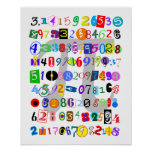 Colourful and Fun Depiction of Pi Poster