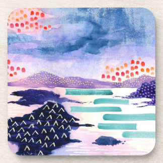 Colourful and Fun Watercolour Painting Coaster Set