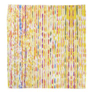 Colourful and Yellow Raindrops Pattern Bandanas