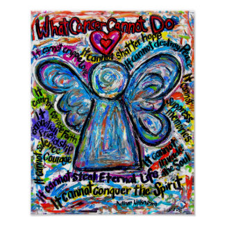 Colourful Angel Angel Poster Print