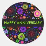 Colourful Anniversary Round Sticker
