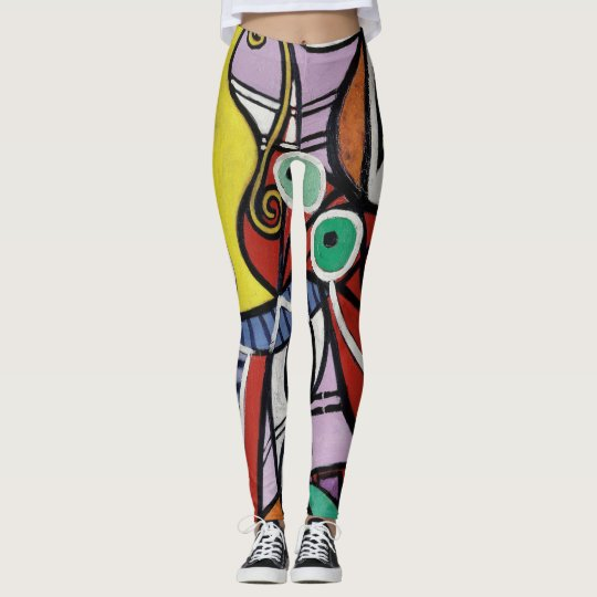 Colourful art like paint leggings