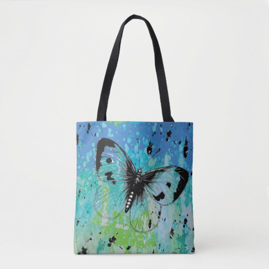 Colourful Artistic Butterfly Tote Bag