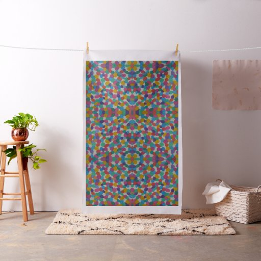 Colourful Artsy Dots Pattern Fabric