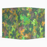 Colourful Autumn Leaves Avery Binder